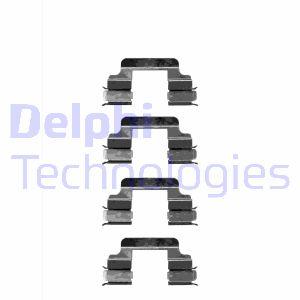 Kit de montage plaquettes de frein DELPHI LX0334 (Jeu de 4)