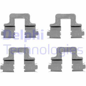 Kit de montage plaquettes de frein DELPHI LX0379 (X1)