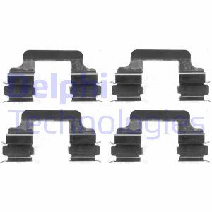Kit de montage plaquettes de frein DELPHI LX0383 (Jeu de 4)