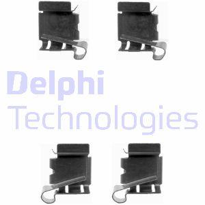 Kit de montage plaquettes de frein DELPHI LX0390 (Jeu de 4)