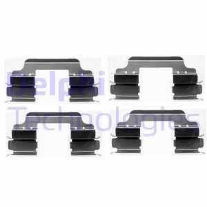 Kit de montage plaquettes de frein DELPHI LX0405 (X1)