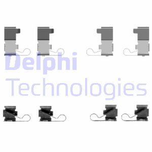 Kit de montage plaquettes de frein DELPHI LX0434 (X1)
