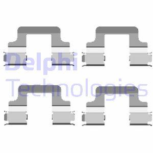 Kit de montage plaquettes de frein DELPHI LX0437 (X1)