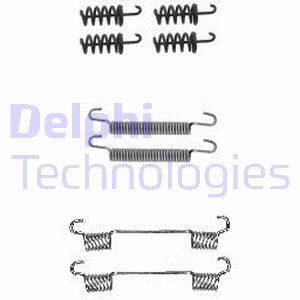 Kit d'accessoires mâchoires de frein de stationnement DELPHI LY1380 (Jeu de 8)