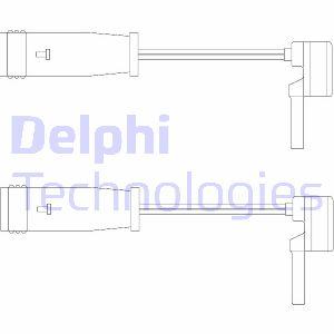 Temoin d'usure de frein DELPHI LZ0153 (X1)