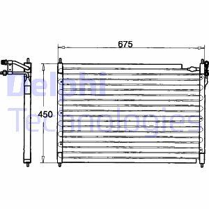 Condenseur / Radiateur de climatisation DELPHI TSP0225084 (X1)