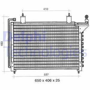 Condenseur / Radiateur de climatisation DELPHI TSP0225295 (X1)