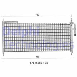 Condenseur / Radiateur de climatisation DELPHI TSP0225297 (X1)