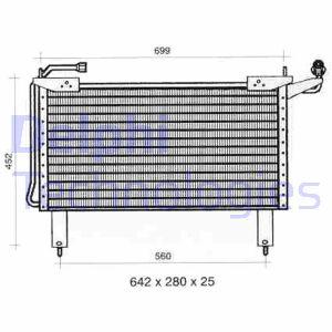 Condenseur / Radiateur de climatisation DELPHI TSP0225298 (X1)