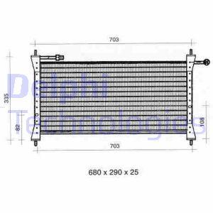Condenseur / Radiateur de climatisation DELPHI TSP0225299 (X1)