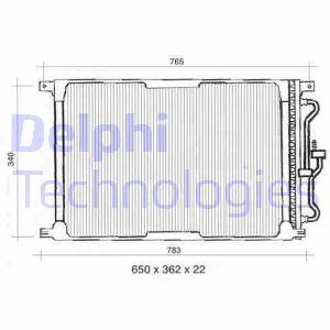 Condenseur / Radiateur de climatisation DELPHI TSP0225300 (X1)