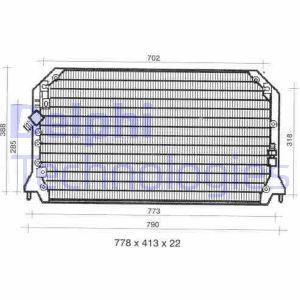 Condenseur / Radiateur de climatisation DELPHI TSP0225309 (X1)