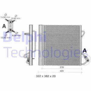 Condenseur / Radiateur de climatisation DELPHI TSP0225320 (X1)
