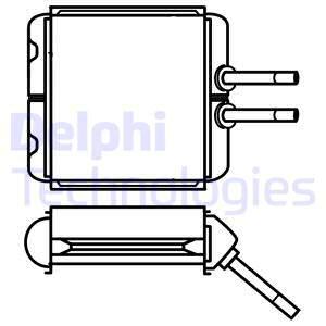 Radiateur de chauffage DELPHI TSP0525532 (X1)