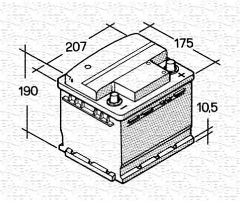 Batterie MAGNETI MARELLI 067143610003 (X1)