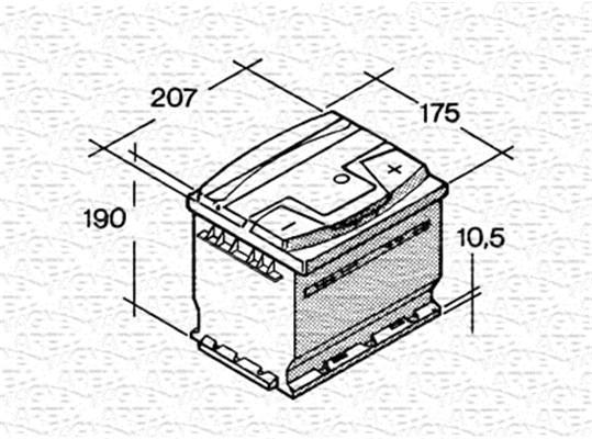 Batterie MAGNETI MARELLI 067143640003 (X1)