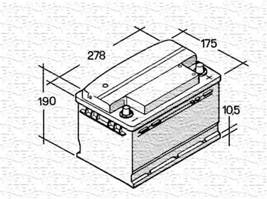 Batterie MAGNETI MARELLI 067147610003 (X1)
