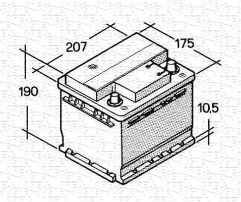 Batterie MAGNETI MARELLI 067143614003 (X1)
