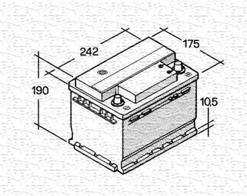 Batterie MAGNETI MARELLI 067143813003 (X1)