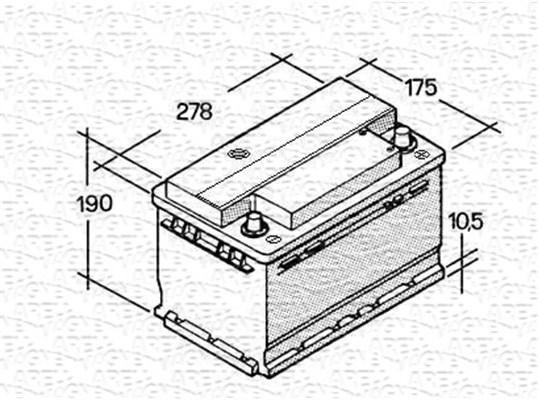 Batterie MAGNETI MARELLI 067147612003 (X1)