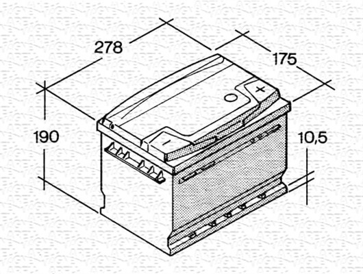 Batterie MAGNETI MARELLI 067147650005 (X1)