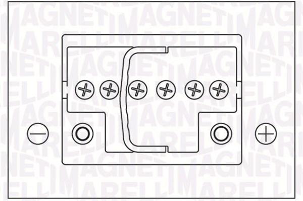 Batterie MAGNETI MARELLI 067300260005 (X1)