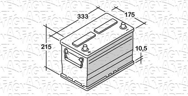 Batterie MAGNETI MARELLI 068100072020 (X1)