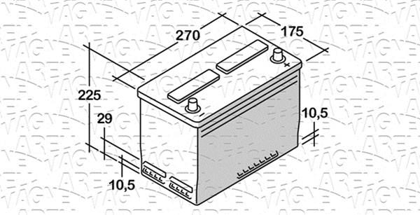 Batterie MAGNETI MARELLI 068070054010 (X1)