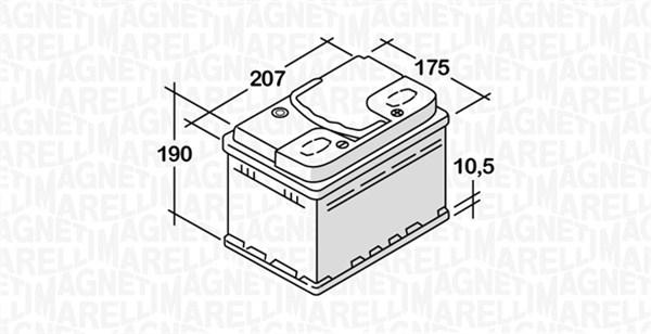 Batterie MAGNETI MARELLI 068045036010 (X1)