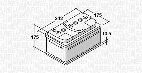 Batterie MAGNETI MARELLI 068050051030 (X1)
