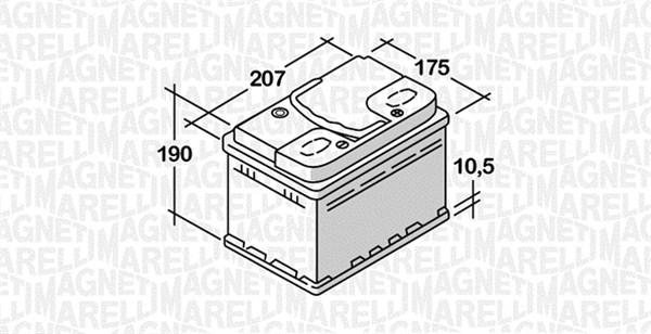 Batterie MAGNETI MARELLI 068050045010 (X1)