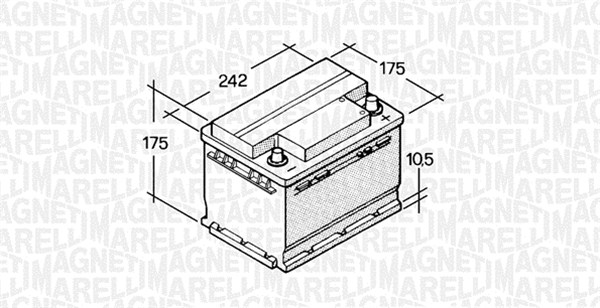 Batterie MAGNETI MARELLI 067129000003 (X1)