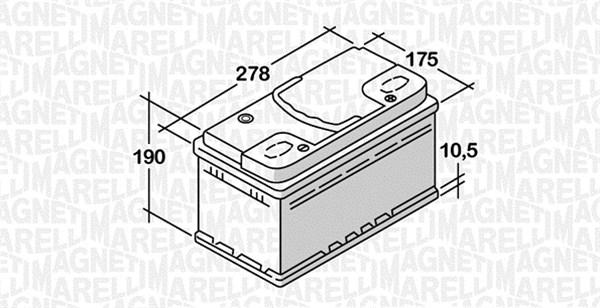 Batterie MAGNETI MARELLI 068074068010 (X1)