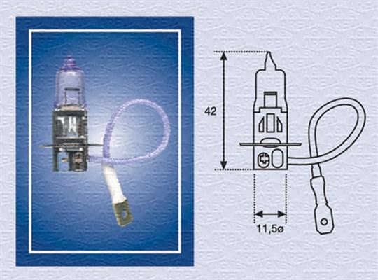 Ampoule, projecteur antibrouillard MAGNETI MARELLI 002554100000 (X1)
