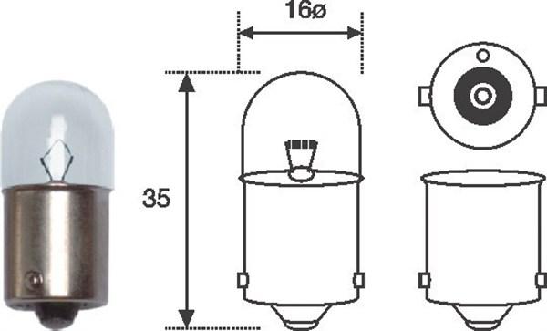 Ampoules MAGNETI MARELLI 004007100000 (X1)