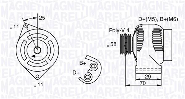 Alternateur MAGNETI MARELLI 063341702010 (X1)