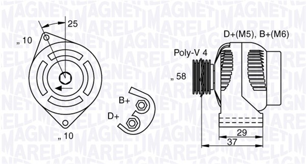 Alternateur MAGNETI MARELLI 063341658010 (X1)
