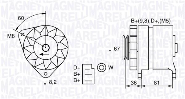 Alternateur MAGNETI MARELLI 054022384010 (X1)