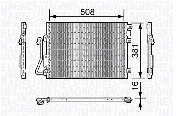 Condenseur / Radiateur de climatisation MAGNETI MARELLI 350203658000 (X1)