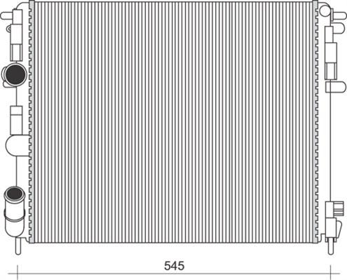 Radiateur de refroidissement MAGNETI MARELLI 350213103500 (X1)