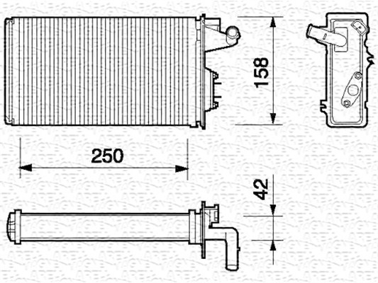Radiateur de chauffage MAGNETI MARELLI 350218052000 (X1)
