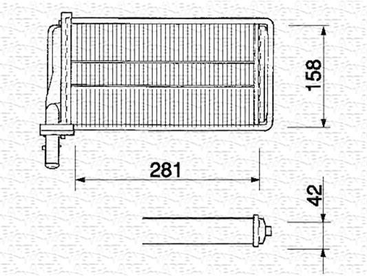 Radiateur de chauffage MAGNETI MARELLI 350218061000 (X1)