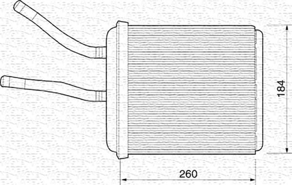 Radiateur de chauffage MAGNETI MARELLI 350218218000 (X1)