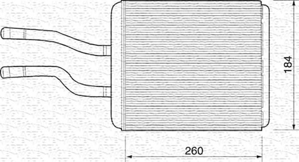 Radiateur de chauffage MAGNETI MARELLI 350218219000 (X1)