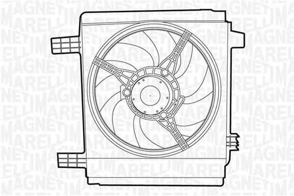 Ventilateur de radiateur MAGNETI MARELLI 069422364010 (X1)