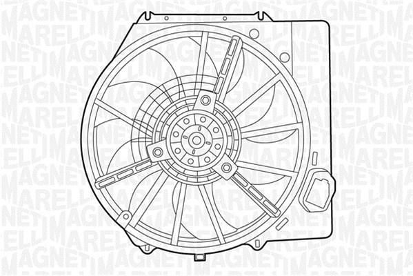 Ventilateur de radiateur MAGNETI MARELLI 069422437010 (X1)